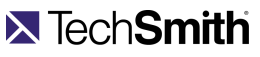 Image of TechSmith Software logo visit their website button.